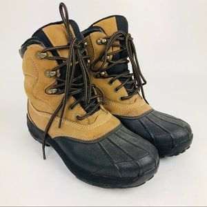 LL Bean Storm Chaser Duck Boots Leather 9.5 M